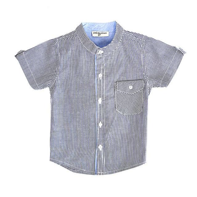 Camiseta de los muchachos Summer2016 nuevos muchachos del verano cabritos de la camiseta del bebé del niño ropa de manga corta de algodón a rayas niños de camisetas