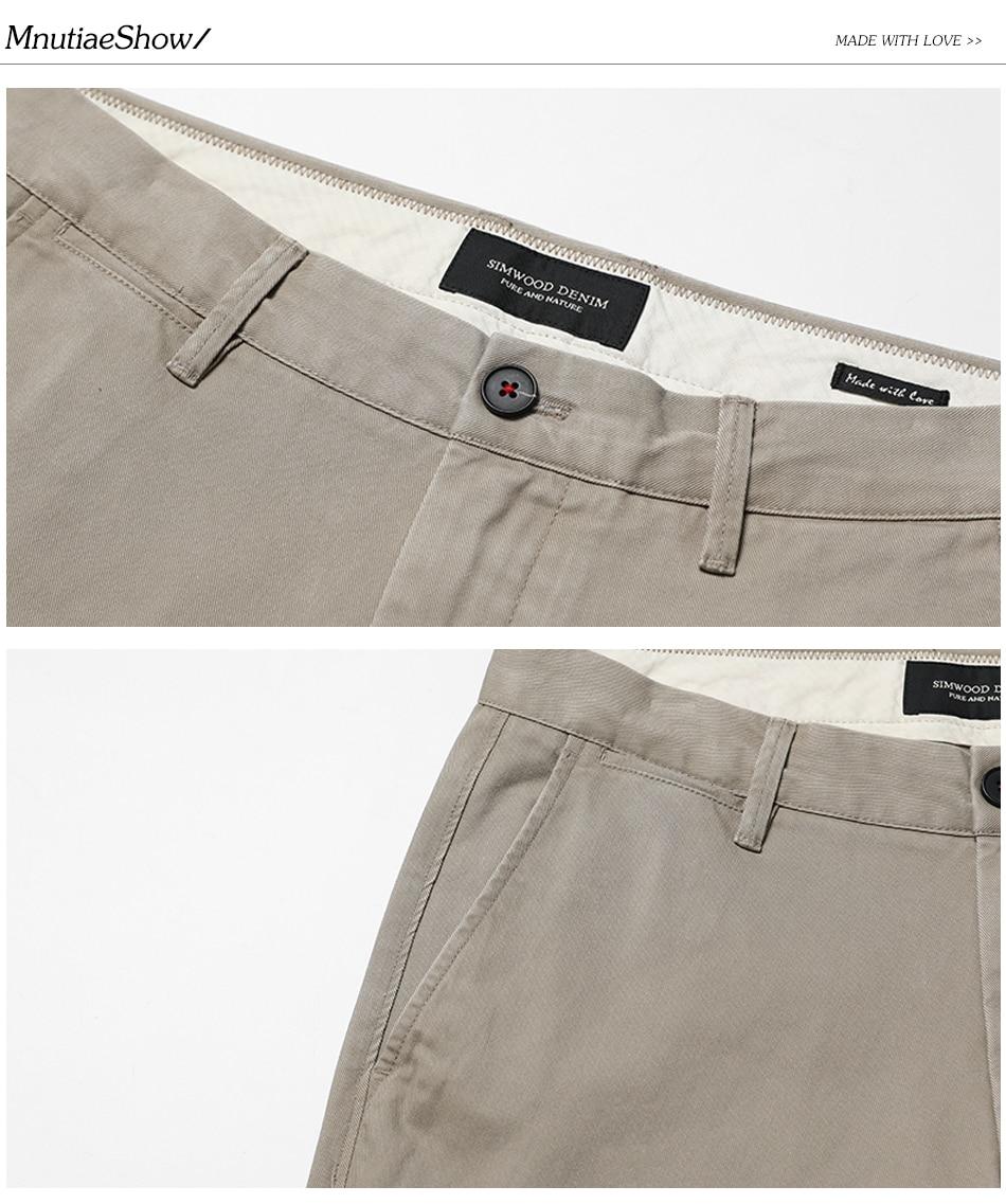HTB14ab7b.FWMKJjSZFvq6yenFXab Simwood Brand Autumn Winter New Fashion 2019 Slim Straight Men Casual Pants 100% Pure Cotton Man Trousers Plus Size KX6033