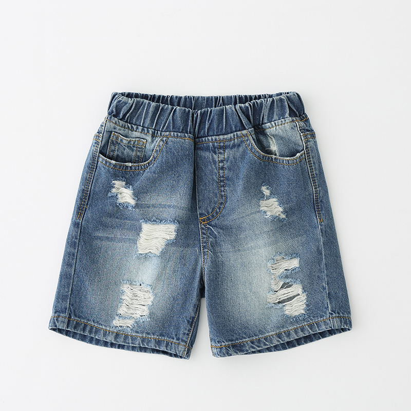 Summer Baby Boys Pants Kids Broken Cool Washing Denim Shorts Toddler Boy Jeans Clothes All Match Pants Children Clothes