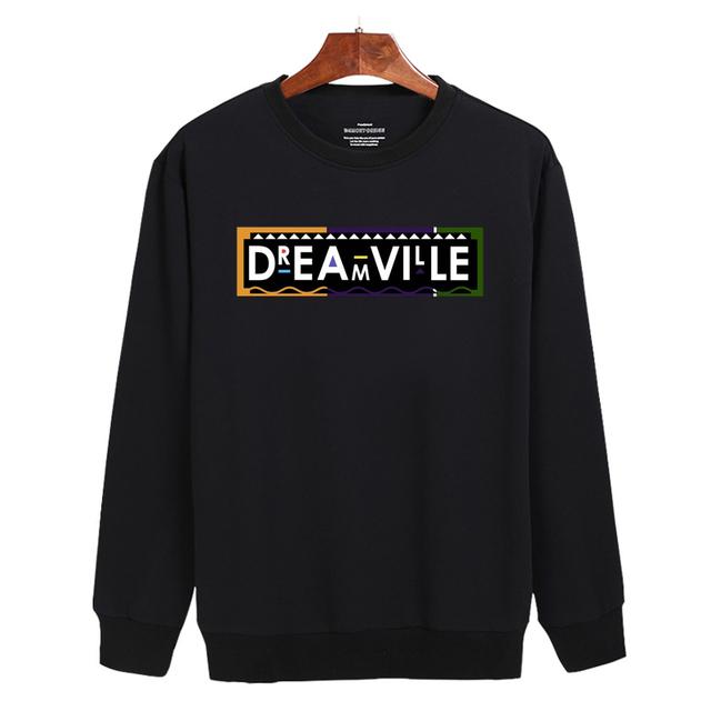 Dreamville Sweatshirts FS Black/White/Gray Harajuku Sweatshirt Cotton in Fashion Design Mens Hoodies and Sweatshirts