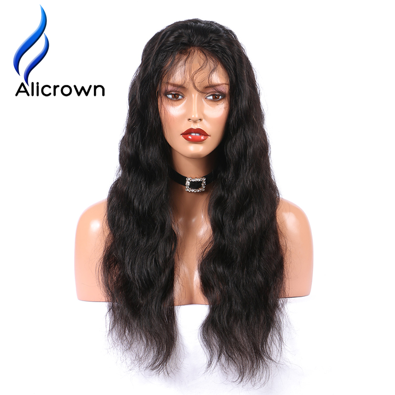 Alicrown 180% Density Lace Front Human Hair Wigs For Black Women Body Wave Brazilian Remy Hair Pre Plucked With Baby Hiar