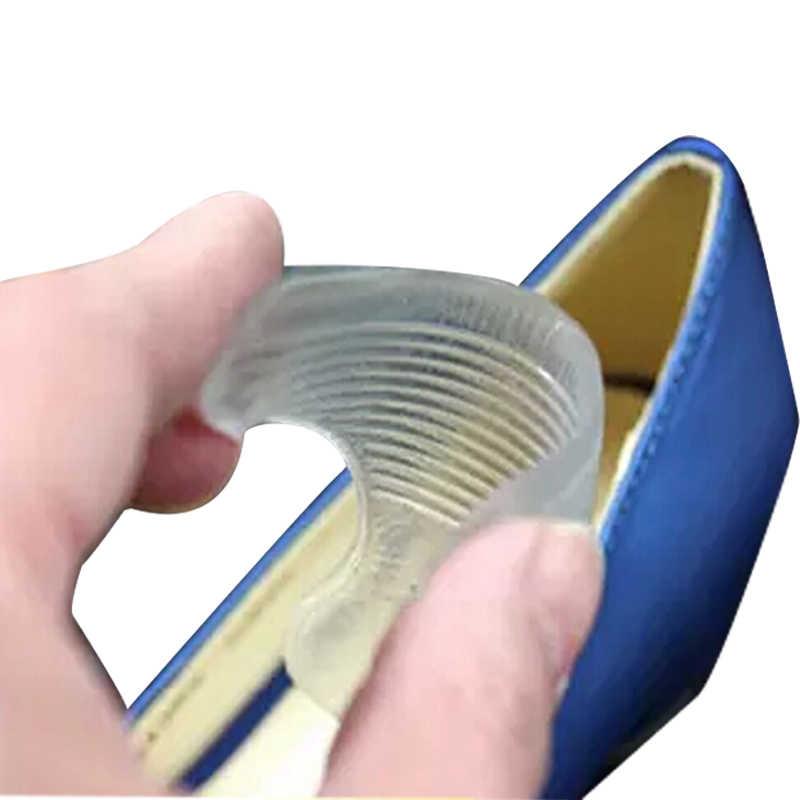 Palmilhas de silicone em gel, 1 par de almofadas para sapatos de gel, cuidados com os pés, proteção dos calcanhar, palmilhas com antiderrapante para pedicure massageador de cuidados com os pés,