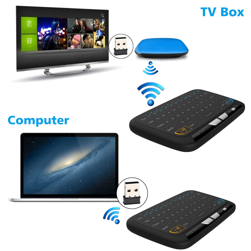 M-H18 Pocket 2.4GHz Wireless Touchpad Keyboard With Full Mouse For Android TV Box Kodi HTPC IPTV PC PS3 Xbox 360 -Drop