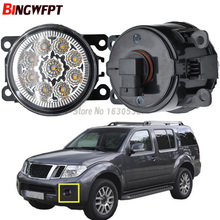 2x Car Exterior Accessories H11 LED Fog Lamps White Yellow Front Bumper Lights For Nissan Pathfinder R51 2005-2012