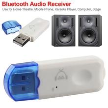 Adaptador receptor de Audio y música estéreo, inalámbrico por USB, Mini, portátil, Bluetooth v2.1estéreo, manos libres para TV, coche, altavoz para el hogar
