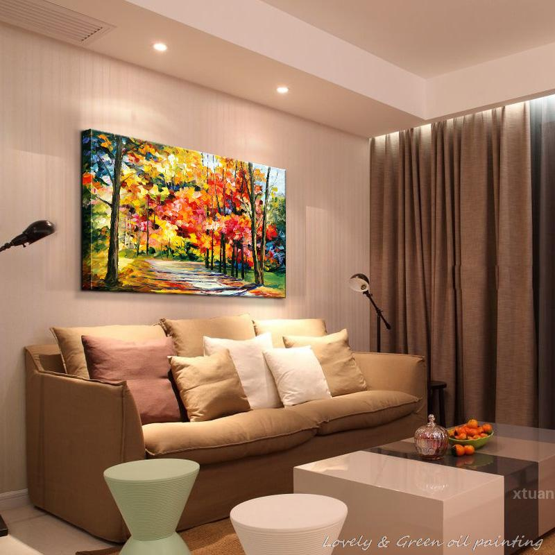 Hand Painted Modern Home Decor Living Room Hall Wall Art Picture