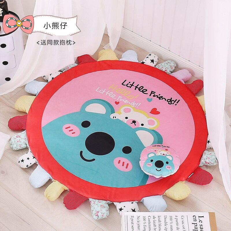 Dessin animé mignon dormir ours enfants bébé chambre tapis rond tapis ramper tapis de sol pour salon décoration extérieure jouer tapis