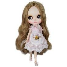 где купить Factory Sale Blyth Doll Brown Hair With Dress 30 CM 12inch White Skin Joint Body DIY Combination Doll Educational Doll Toys по лучшей цене