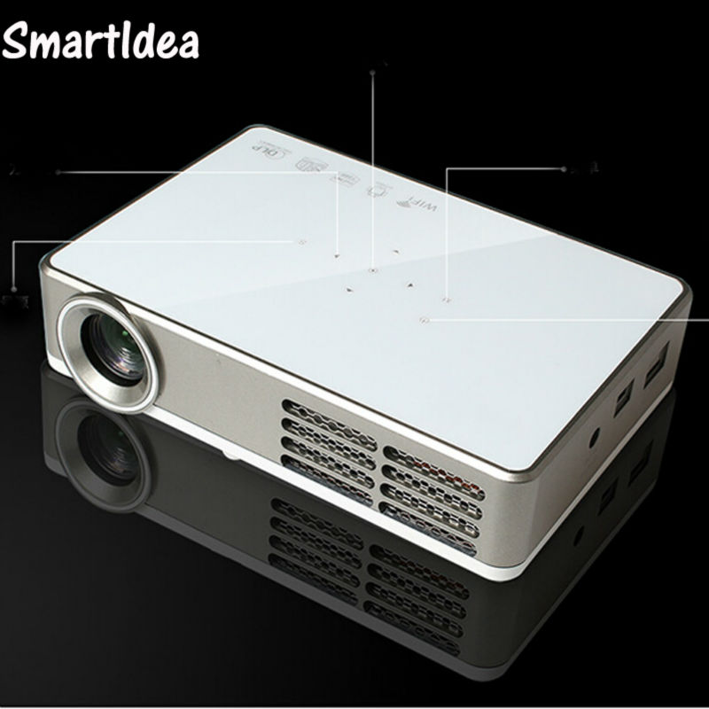 Led 9 1280x800 mini dlp android wifi projector full hd for Best portable digital projector