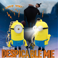 Hot selling Despicable Me Night Light Minions Keychain Toys LED Talking Minion Toy Lamp Nightlight