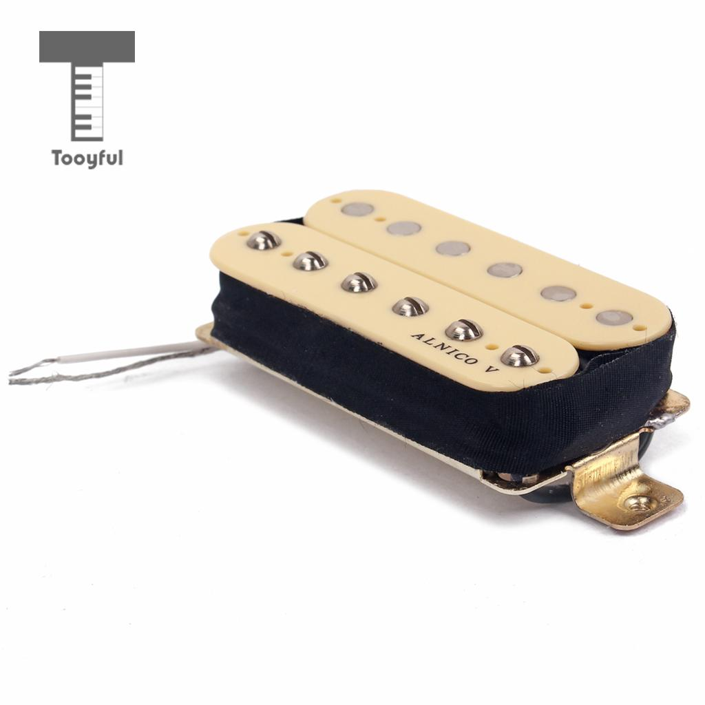 Tooyful Dual Coil Humbucker Pickup Alnico 5 for Fender Strat SG Electric Guitar Part 50/52mm electric guitar pickup dual rail bridge humbucker single coil pickup