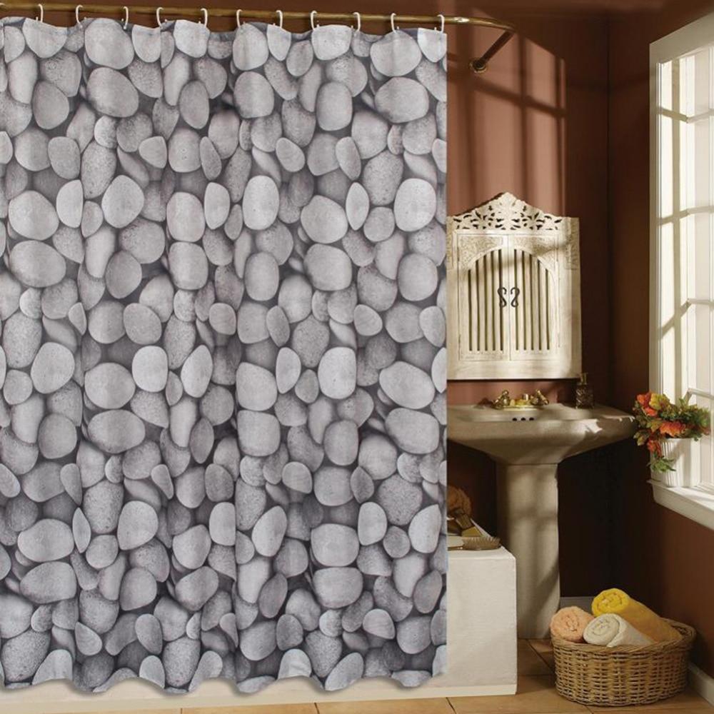 Fashion Sea Shell Starfish Waterproof Fabric Shower Curtain With 12 Hooks  World Map Pebbles Bathroom Bathing Shower Curtains In Shower Curtains From  Home ...