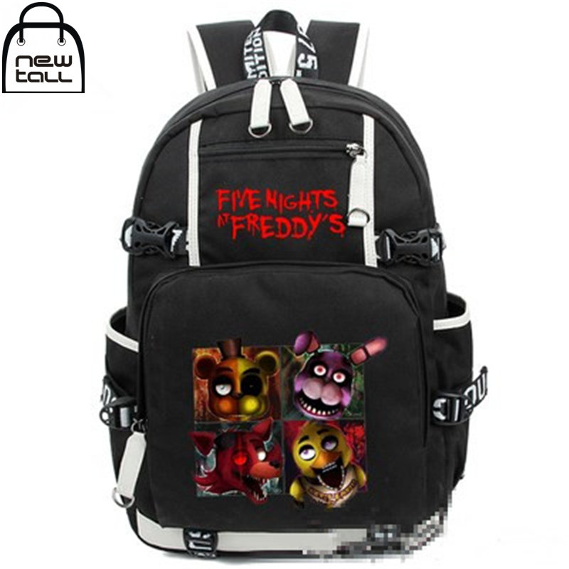 [NEWTALL] 2017 New Five Nights At Freddy's Freddy Backpack Chica Foxy Bonnie FNAF Shoulder Bag 16073025 five nights at freddy s freddy backpack chica foxy bonnie fnaf shoulder 44x15x33 cm