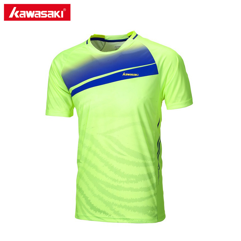 2017 Kawasaki Badminton Tennis T Shirts Short-sleeved Mens T-Shirt Sportswear Training Clothes For Male ST-171024