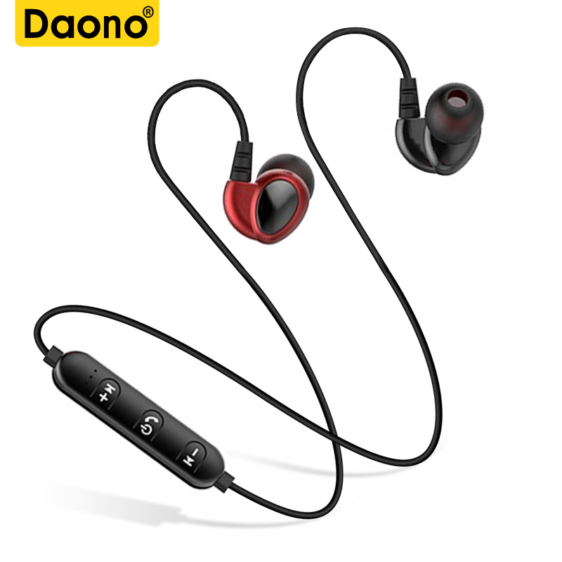 DAONO T2 Bluetooth Earphone For Phone Sports Wireless Headphone With Mic Stereo Auriculares Bluetooth Headset Earbuds Earpiece