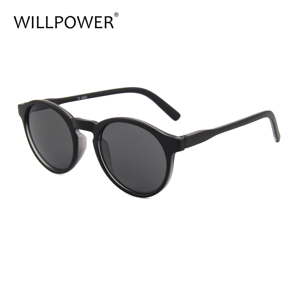 WILLPOWER Round Sunglasses Men Women Fashion High Quality Sun Glasses For Driving Travel Party Outdoor