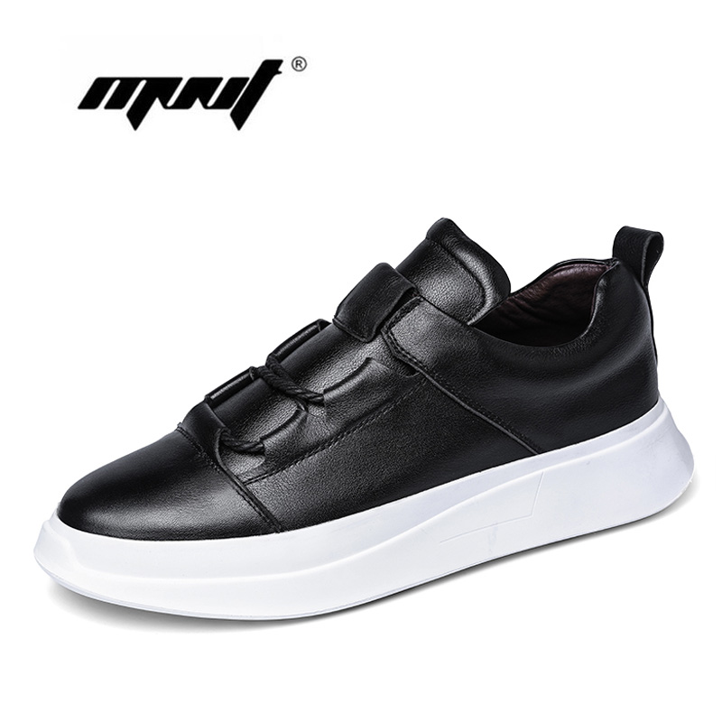 Handmade natural leather men shoes comfort soft casual shoes men Height increasing design footwear outdoor shoes