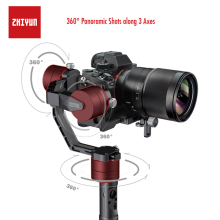 ZHIYUN Crane V2, 3-Axis Gimbal Stabilizer for Mirrorless Camera and DSLR for Sony A7 Panasonic LUMIX Nikon J Canon PK Hohemn moza air 3 axis dslr handheld gimbal stabilizer dual handle case for canon nikon sony a7 cameras load 3 2 kg vs zhiyun crane