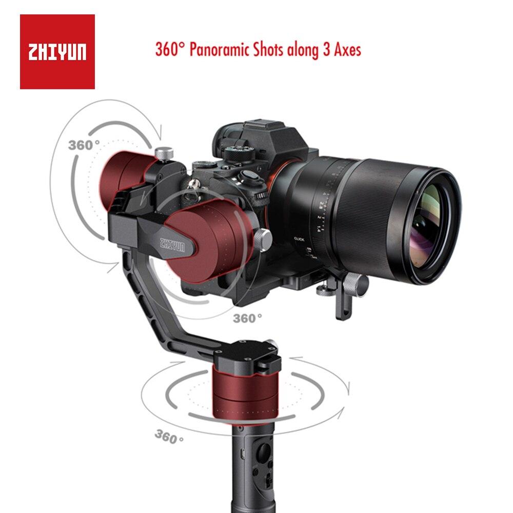 ZHIYUN Crane V2... 3-eje cardán estabilizador para Mirrorless cámara DSLR de Sony A7 Panasonic LUMIX Nikon J Canon PK Hohemn