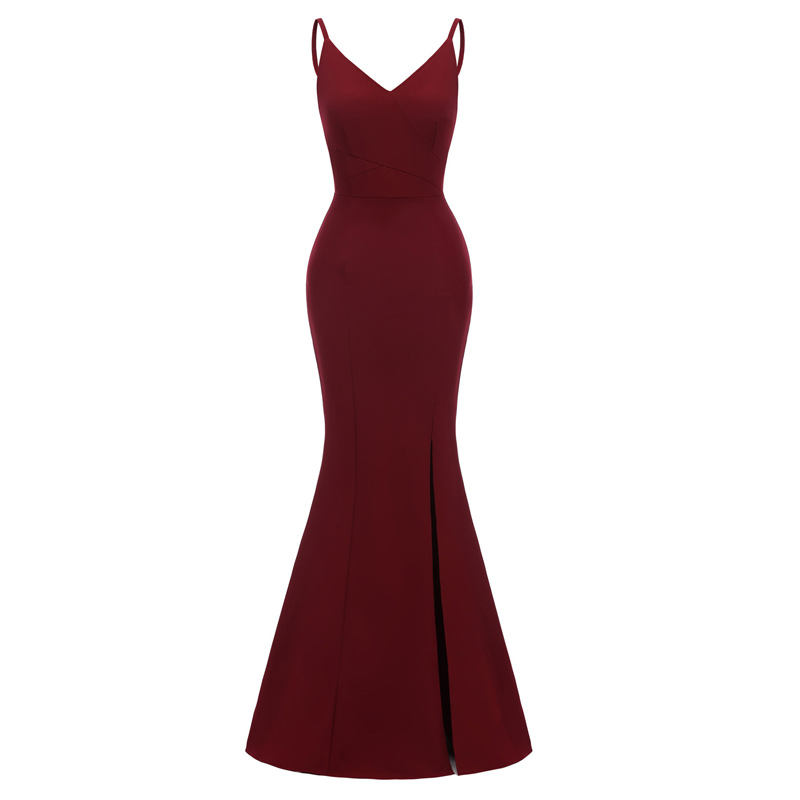 Fashion Condole Belt Evening Dress Sexy Backless Formal Dress Elegant Evening Dresses Long Mermaid Evening Gown Party Dress