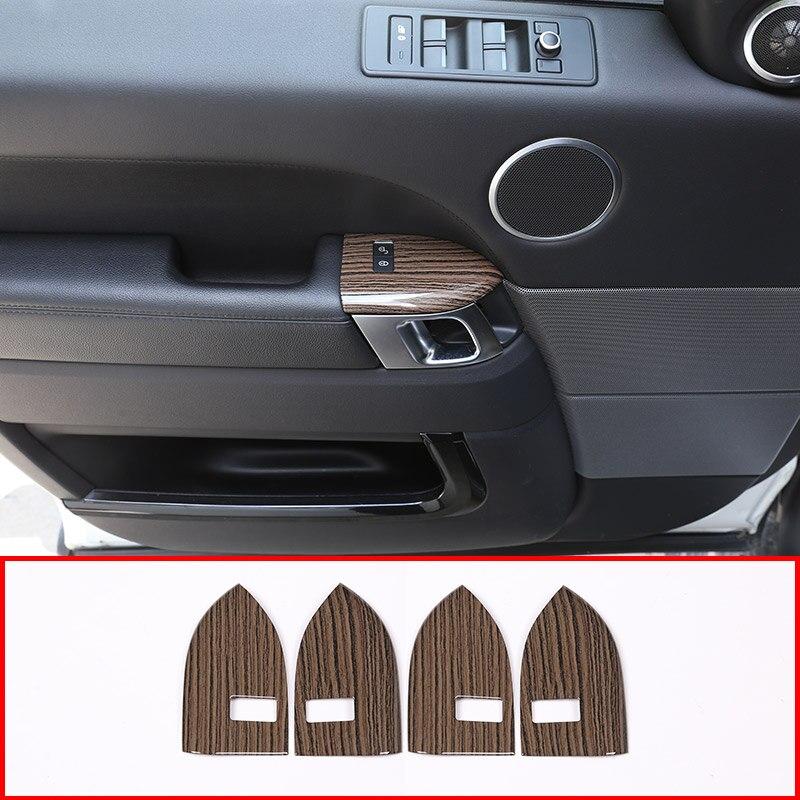 Sables Grain de bois pour Land rover Range Rover Sport 2014-2017 ABS plastique sécurité enfant cadre de verrouillage accessoires de garniture