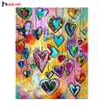 HUACAN DIY 5D Diamond Painting Love Heart Full Square Diamond Mosaic Embroidery Sale Picture Of Rhinestones For Festival Gifts
