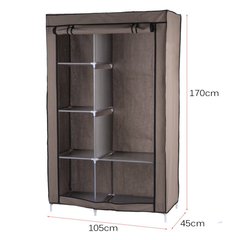Portable Wardrobe Diy Anti Dust Moisture Proof Non Woven Foldable