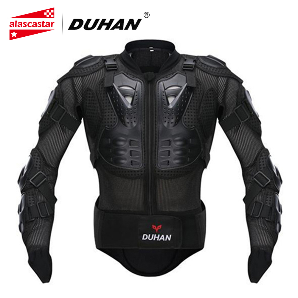 DUHAN Professional Motocross Racing Full Body Armor Spine Chest Protective Jacket Gear Motorcycle Riding Body Protection Guards недорго, оригинальная цена