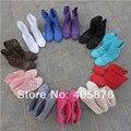 NOVA CHEGADA transporte Livre de Alta qualidade tricô escavar botas de Verão 12 Cores EUA 4-10 botas Moda Tornozelo para as mulheres