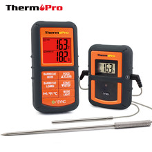 ThermoPro TP-08S 90M Remote Wireless Food Kitchen Thermometer Dual Probe For BBQ, Smoker, Grill, Oven, Meat With Timer(China)