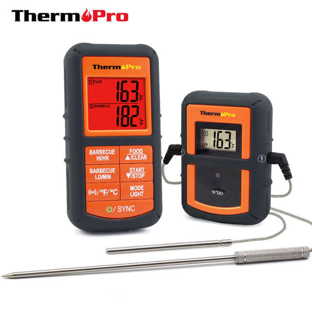 ThermoPro TP-08S 100M Remote Wireless Food Kitchen Thermometer Dual Probe For BBQ, Smoker, Grill, Oven, Meat With Timer