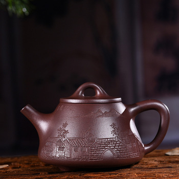 Quality Goods Manual Raw Ore Purple Ink For Imprinting Of Seals Jiangnan Charm You Stone Pot Kungfu Online Teapot Tea Set Suit