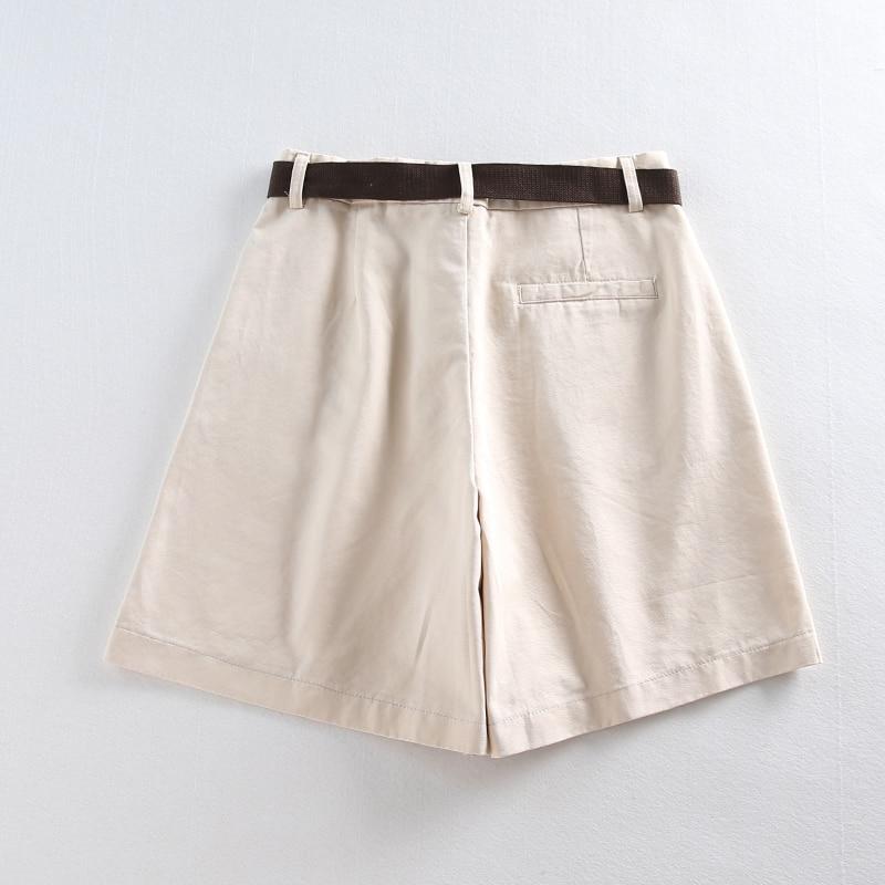Casual Women Shorts A-line High Waist Slim Summer Shorts 40