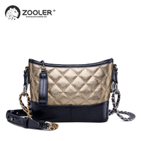 ZOOLER 2019 new designer leather bags women real leather handbags girls purses cowhide woman shoulder messenger bags hot MH201