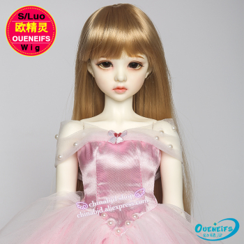 Wig For Doll BJD free shipping size 9-10 inch 1/3 handmade diy wig girl long hair bjd sd doll in beauty and health with bangs 1