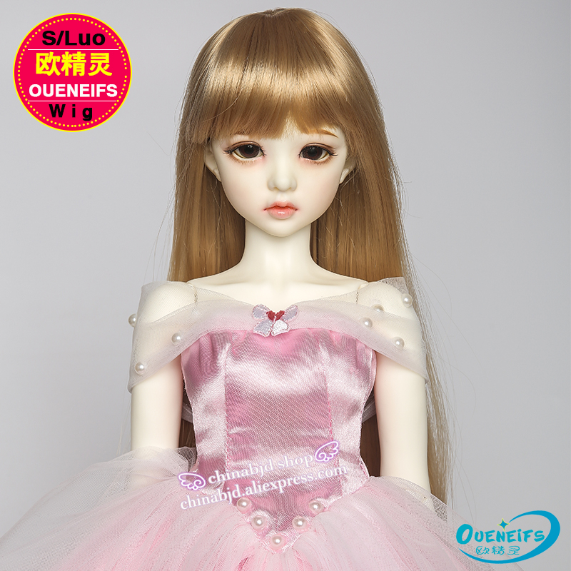 OUENEIFS free shipping size 9-10 inch 1/3 high-temperature wig girl long hair bjd sd doll Wig in beauty and health with bangs synthetic bjd wig long wavy wig hair for 1 3 24 60cm bjd sd dd luts doll dollfie cut fringe