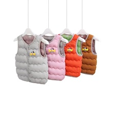 Winter 2-5 Kids Vest Baby Girls Waistcoat 100% Down Cotton Vests Warm Kids Boy Outerwear Coats Boys Winter Vest Children Clothes цена и фото