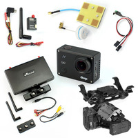 DIY FPV Set With 600mw Transmitter 7 Inch FPV Monitor T2 2D 2 Axis Gimbal Gitup