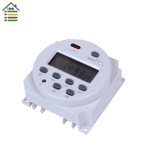 AC 220V-240V 16A Mini LCD Digital Power Weekly Programmable Control Timer Switch Time Relay