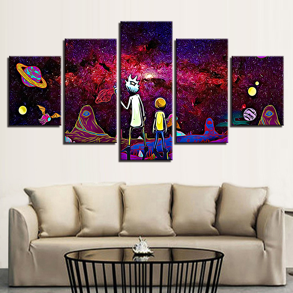 Modern Movie Cartoon Painting Pictures for Home Decoration Wall Pictures for Children Birthday Present in Painting Calligraphy from Home Garden