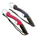 Top grade quality aluminium fishing lip grips fish lip gripper with rope 28cm 166g three colors available