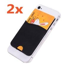 2 xSilicone Id Card/Кредитная Карта Держатель Наклейка для Iphone 7 6 S plus 5S SE для Xiaomi Редми Для Samsung S7 Край Плюс Новый В на складе