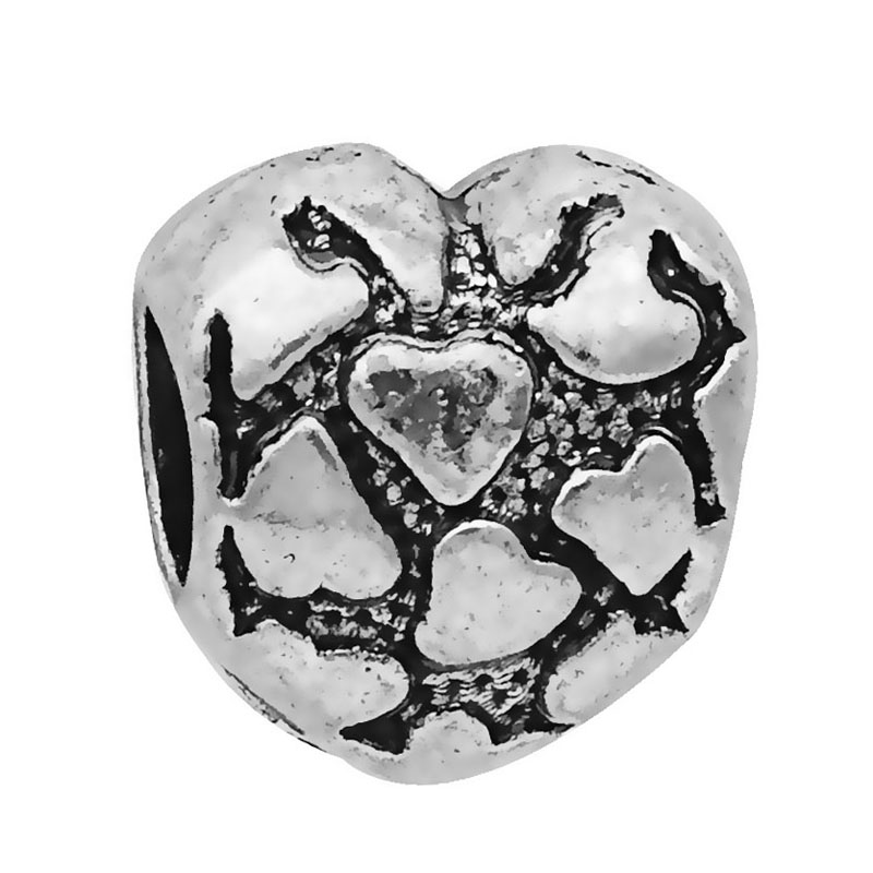 Pandora Jewelry Free Shipping: Free Shipping 1PC Heart Love Silver Loose European Bead