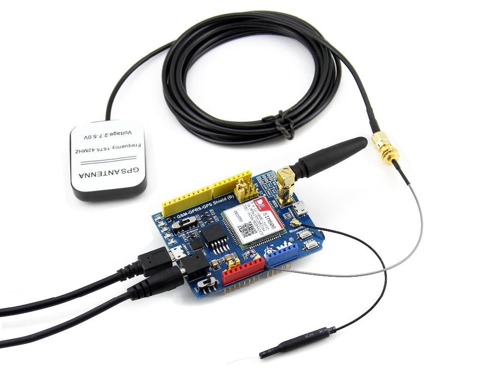 Waveshare GSM/GPRS/GPS Bouclier (B) Arduino Bouclier Basé sur SIM808 Est Livré avec L'UE plug adaptateur secteur