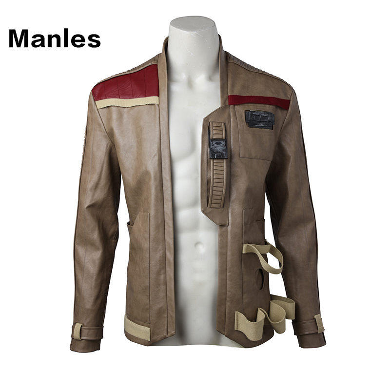 The Last Jedi Finn Cosplay Jacket Movie Star Wars Superhero Costume Coat New Year Clothes Halloween