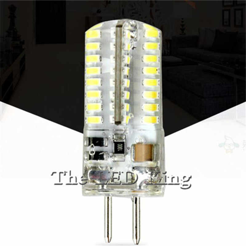Led Light G9 G4 DC AC 12V Led Bulb E11 E12 14 E17 G8 Dimmable Lamps 110V 220V Spotlight Bulbs 3014 SMD 64 152 Leds Sillcone Body