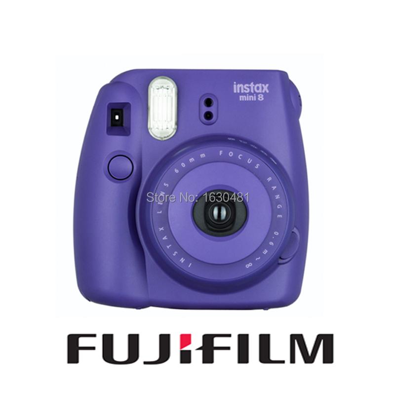 Prix pour Fujifilm fuji instax mini 8 film instantané de la photo de raisin pourpre nouveau populaire couleur fuji instax caméra