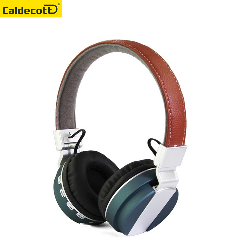Caldecott brand foldable over-ear bluetooth headphones TF card BT 4.0 wireless Bluetooth headset earphones for music phone цена 2017