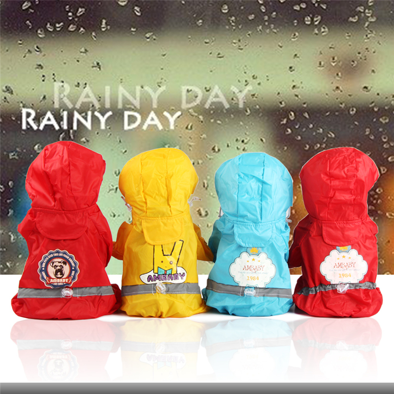 Pet Dog Raincoat Waterproof Transparent Jacket Hoopet Impermeable Rain Lined Small Dogs Pet Clothes Hoodies Jumpsuit BBMXZZZ