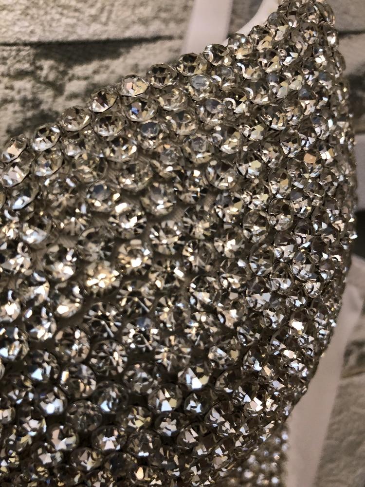 Image 5 - New Korean Diamond Sexy Short Crop Tops Lady Sleeveless Night Club Party Wedding Bustier Bra Cropped Top Vest Plus Size C662-in Bustiers & Corsets from Underwear & Sleepwears
